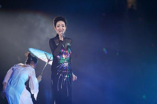Concert, Woman, Teresa Teng, Singing