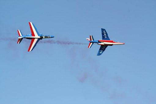 Aerobatics, Alphajet, Aircraft, Patrol Of France