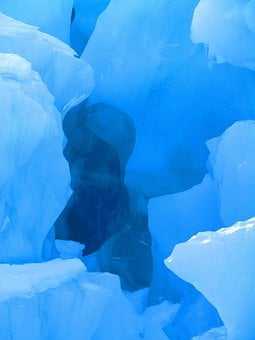 Glacier, Ice, New Zealand, Nature, Shadow, Landscape