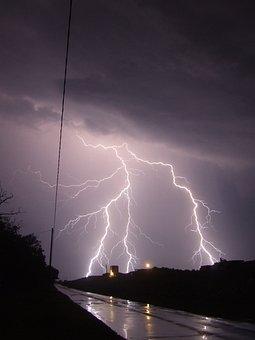 Lightning, Storm, Night, Debrecen Spiš