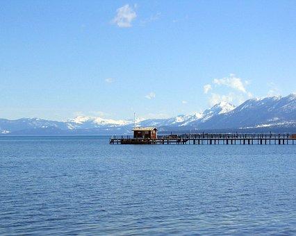 Hut Over Lake, Pier, Mountain Lake, Nature, Water, Lake