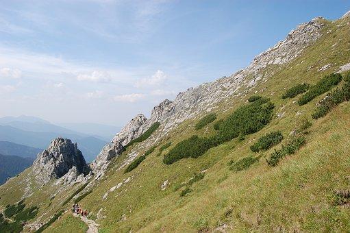 Mountain, Mountains, Landscape, View, Blue, Top, Tatra