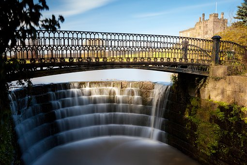 Bridge, Cascade, Falls, Flow, Landscape, Nature, Park