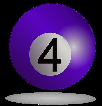 Billiard, Billiard Ball Purple, Sport, Pool, Purple
