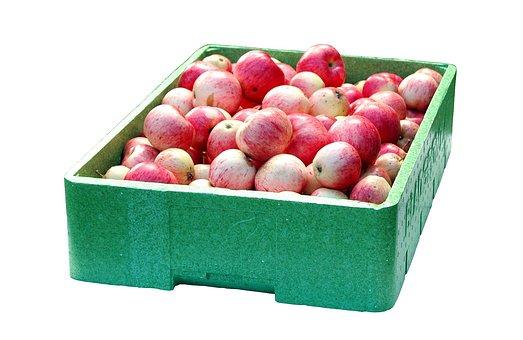 Apple, Box, Red, Fruit, Food, Transport, Autumn, Green