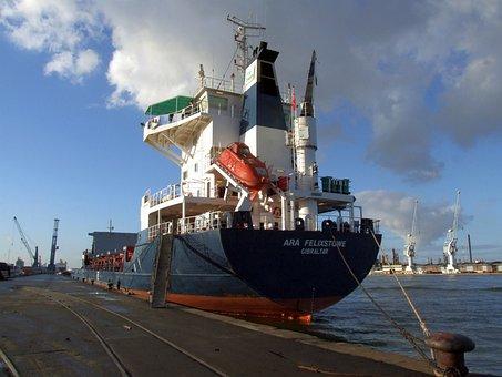 Ara Felixstowe, Ship, Port, Rotterdam, Vessel, Freight