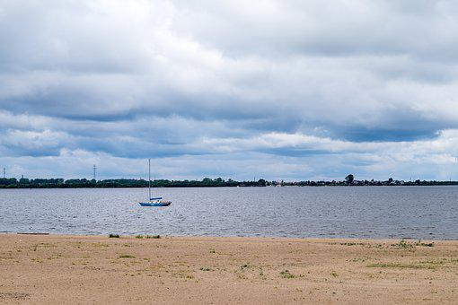 River, Beach, Not To Swim, Sky, Boat, Yacht