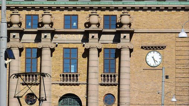 Gothenburg, A Historical Building, Detail, Post Office