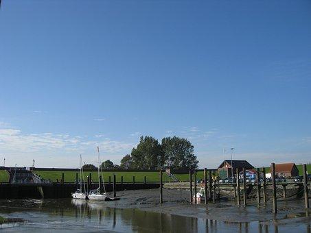 Fedderwarder Sieler Harbor, North Sea, Fishing Port