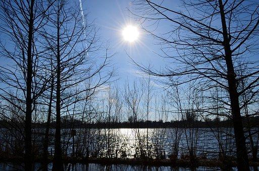 The Midday Sun, Gegenlichtaufnahme, Idyll, Lake