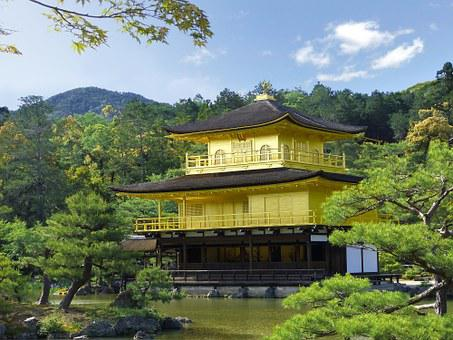 Japan, Kyoto Prefecture, Kinkaku, Golden Pavilion
