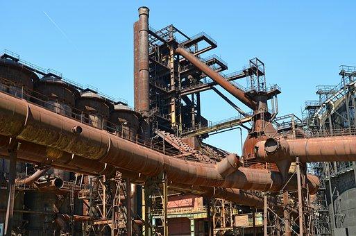 Industry, Vysoká Pec, Ostrava, Iron, Melting Iron
