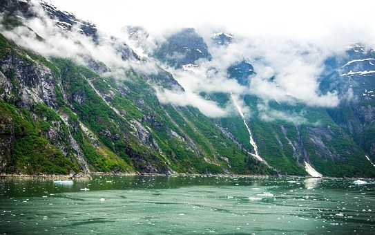 Tracy, Tracy Arm, Glacier, Ice, Mountains, Snow, Nature