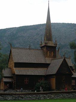 Church, Wooden Church, Norway, Lom