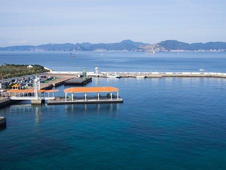 Nagasaki, Sea, Port, Japan, View