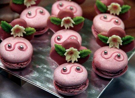 Dessert, Sweet, Macro, Candy, Gastrofest, Pink, Puffs