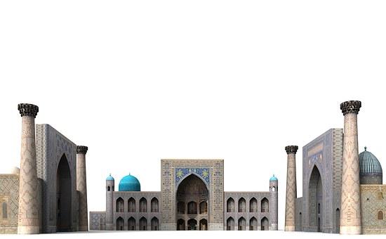 Registan Square, Palace, Samarkand, Uzbekistan