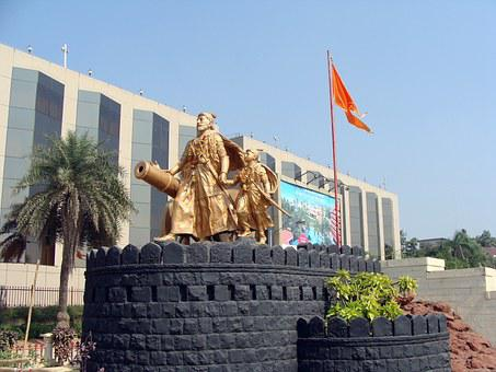 Statue, Bronze, Shivaji, Hero, Sculpture, Monument