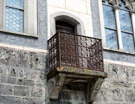 Balcony, Balcony Grid, Old, Facade, Architecture, House