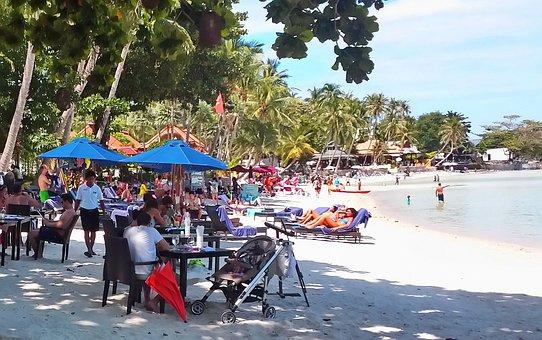 Beach, Chaweng, Samui, Thailand, Travel, Chaweng Beach