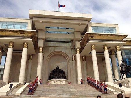 Ulaanbaatar, Mongolia, Blue Sky, Government