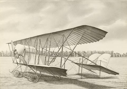 Aircraft, Drawing, Design, Early, Twentieth, Century
