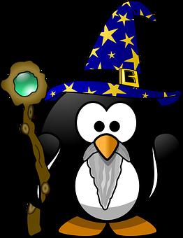 Gandalf, Tux, Animal, Bird, Conjure, Mage, Magic