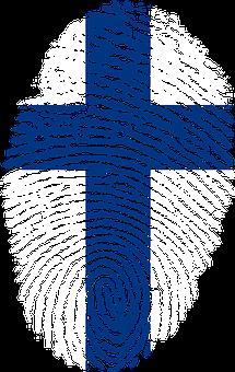 Finland, Flag, Fingerprint, Country, Pride, Identity