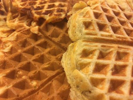 Waffles, Freshly Made Waffles, Waffle, Dessert, Food