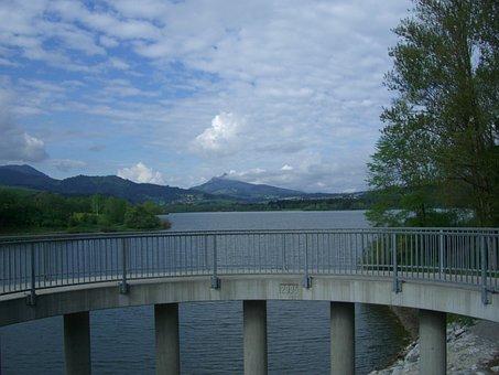 Gruentensee, Dam, Observation Deck, Concrete Pillar