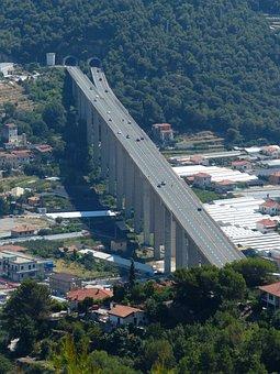 Highway Bridge, Road, Bridge, Tunnel, Traffic, Nervia