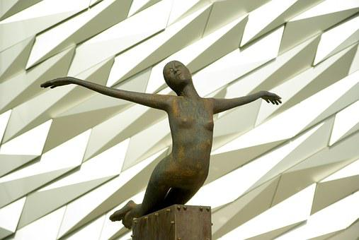 Ireland, Belfast, Museum, Titanic, Sculpture