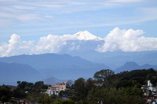 Pico De Orizaba, Veracruz, Mexico, Sky, Landscapes