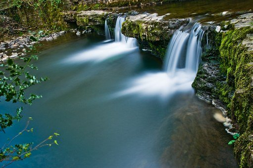 Waterfall, Pool, Wales, Natural, Nature, Outdoor, Water