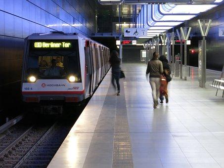 Railway Station, Metro, Passengers, City Life, Drive