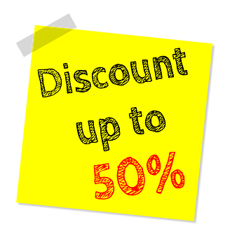 Fifty Percent, Sale, Discount, Offer, Promotional