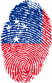 Samoa, Flag, Fingerprint, Country, Pride, Identity