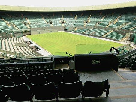Wimbeldon, London, Tennis, Center Court, Stadium, Green