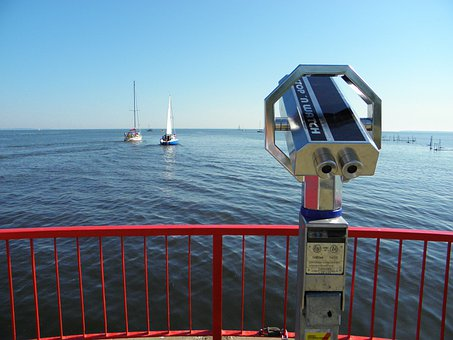 Stettiner Haff, Lake, Harbour Mouth, Telescope