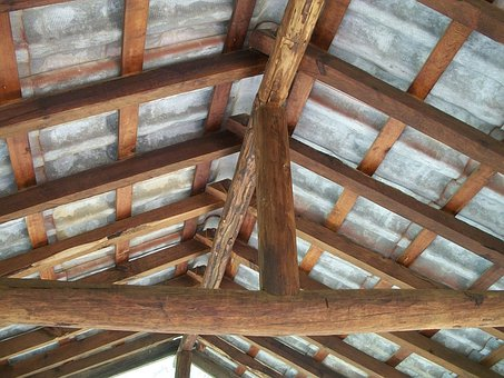 Structures, Wood, Roof, Laminate, Pine, Trunk