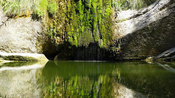 Waterfall, Dry, Water, Aqueous, Nature, Laguna, River