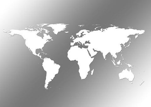 Continents, Earth, Globe, Global, World, International