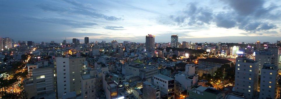 Afternoon, Vietnam, Asia, Landscape, Tower, Indochina