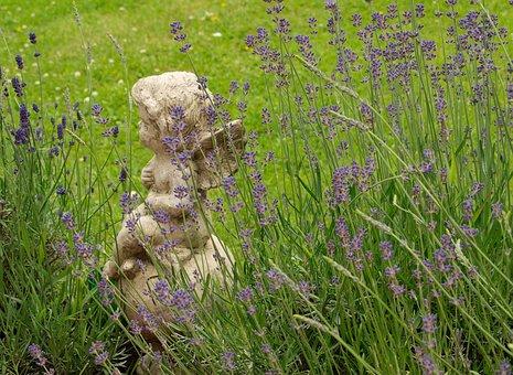 Cherub, Angel, Garden, Angel Figure, Sculpture, Wing