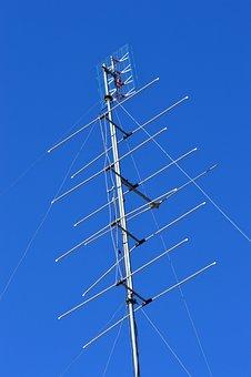 Blue Sky, Tv, Antenna, Communication, Tower, Mast
