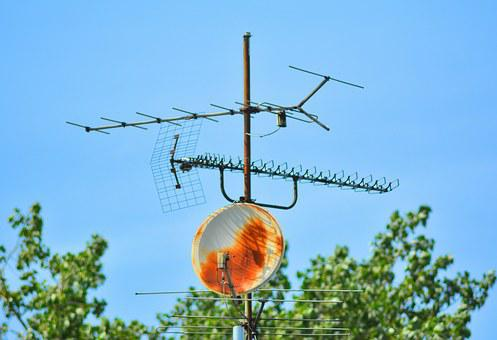 Antenna, Tv Antenna, Sat, Satellite Tv