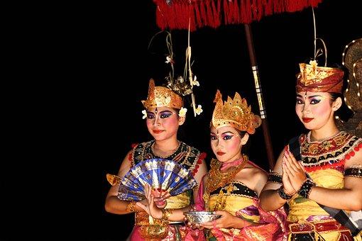 Bali, Dancers, Culture, Symbolism, Indonesian, Colors