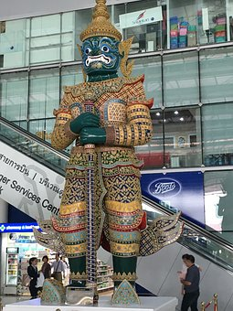 Statue, Thailand, Thai, Bangkok, Traditional, Airport