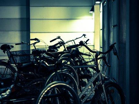 Bike Racks, Bicycles, Night, Parking Possibility, Bike