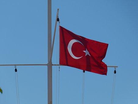 Flag, Blow, Flutter, Banner, Turkey, Mast, Star